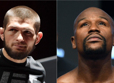 Khabib Nurmagomedov and Floyd Mayweather Jr