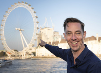 Ryan Tubridy visits The London Eye ahead of The Late Late Show.