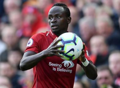 Liverpool winger Sadio Mane.
