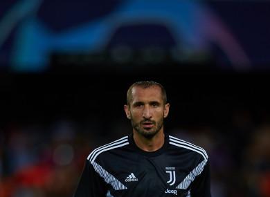 Giorgio Chiellini of Juventus (file pic).