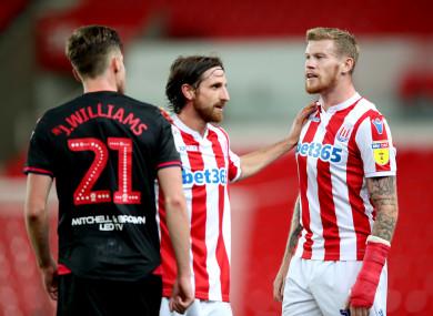McClean alongside Stoke team-mate Joe Allen on Tuesday night.