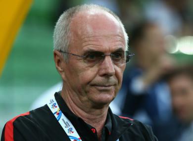 Ex-England manager Sven-Goran Eriksson.