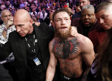 Conor McGregor after his defeat to Khabib Nurmagomedov at UFC 229.