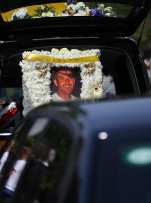 The funeral of Gareth Hutch in Dublin in June 2016.