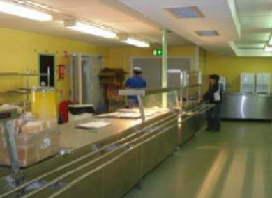 A direct provision centre canteen
