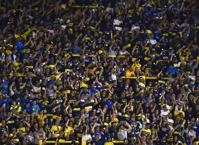 Boca Juniors fans at La Bombonera