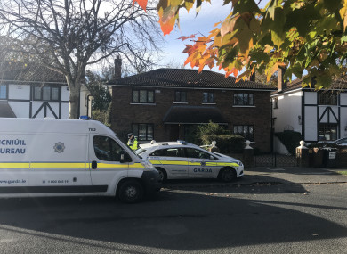Gardaí are at the scene in Foxrock this morning.