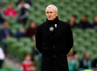 Cork City manager John Caulfield pictured at Sunday's FAI Cup final.