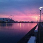 Dublin Docklands at dawn by Marc Quinlivan.