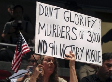 Opponents of a new mosque a few blocks from the World Trade Center believed that the project 'glorified' the people responsible for the 9/11 attacks.