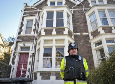 Police officers outside a property on Aberdeen Road in Clifton, where it is believed a 32-year-old man was arrested on suspicion of Joanna Yeates' murder on Thursday.