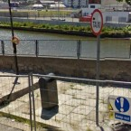 Google Maps image of the wall before it collapsed.