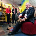 Labour's Pat Rabbitte has been wearing out some serious shoe leather on the campaign trail... Pic: Stephen Kilkenny.