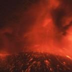 Mount Shinmoedake is still erupting in the Kirishima mountain range in Japan - it had not erupted for over 300 years.<span class=