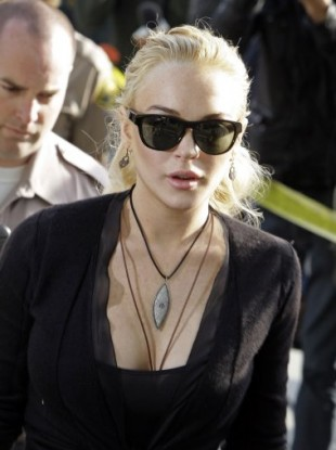 Lohan at a court appearance on February 23