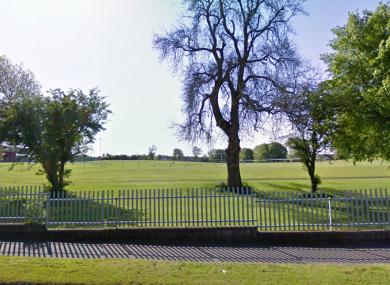Corduff Park in Mulhuddart, near Blanchardstown, where three men were shot this morning.
