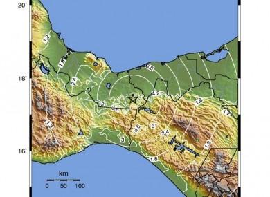 The quake struck in central Mexico