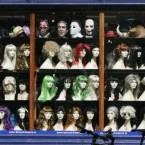 The store window of a costume shop across from the Stephen's Green shopping centre, Dublin. Image: Eamonn Farrell/Photocall Ireland