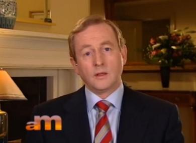 Enda Kenny on BBC television this morning