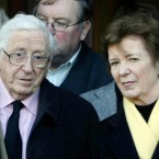 File photo dated 22/12/08 of Garret FitzGerald with former Irish President Mary Robinson. (Niall Carson/PA Wire)