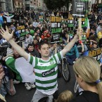 As that ceremony continues, so do a handful of protests at various locations in the north inner city. (Photo: Mark Stedman/Photocall Ireland)