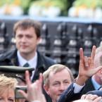 Taoiseach Enda Kenny takes note of Barack Obama saying 'I Love You' in sign language. Rock on. (Image: Stephen Kilkenny)