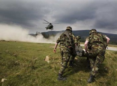 File photo of a Defence Forces training event.