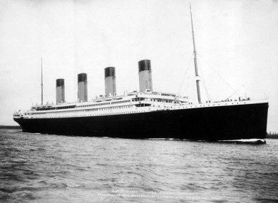 The original Titanic, in case you weren't aware, also sank on its first voyage.