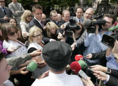 Michael Healy Rae speaking to the media today
