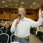 Shareholder John Murnane from Limerick questioning the board