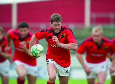 O'Gara at yesterday's launch of the new Munster kit for 2011/2012.