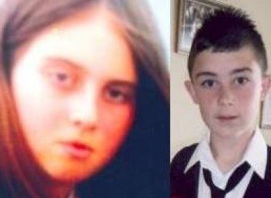 Undated images of Jasmine Humphrey, 11, and Patrick Quaid, 13.