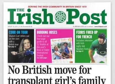 The last edition of the Irish Post
