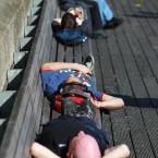 The Liffey boardwalk (Leon Farrell/Photocall Ireland)