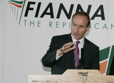 Fianna Fail Leader Micheál Martin.