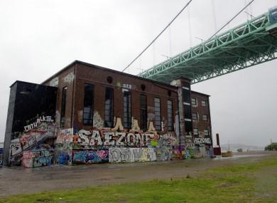 The Roda Sten arts centre in Gothenburg, which was evacuated overnight.