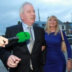 Charlie McCreevy with his wife Noleen arriving at Bertie Ahern's 60th birthday party at Croke Park. Photo Leon Farrell/Photocall