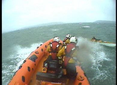 A video grab, courtesy of Crosshaven RNLI, of this afternoon's sea rescue.