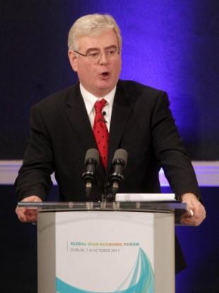 Eamon Gilmore speaking at the Global Irish Economic Forum in Dublin Castle this morning.