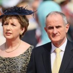 2 July 2011: Mary McAleese and husband Martin arriving for the wedding of Prince Albert II of Monaco and Charlene Wittstock at the Place du Palais.  (Dominic Lipinski/PA Wire/Press Association Images)