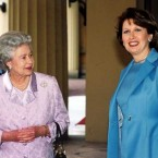 Britain's Queen and President McAleese built up a rapport after their first meeting in 1998.  The pair are pictured here during a visit to Buckingham Palace in 1999.  (Photocall Ireland)