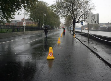 File photo of flooding in Dublin