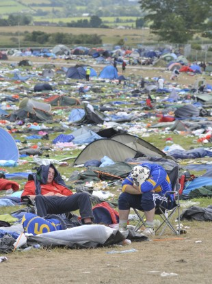 Festival-goers after last year's event.