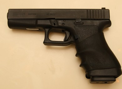 A Glock pistol, similar to that seized by Customs officials at Dublin Port this afternoon.