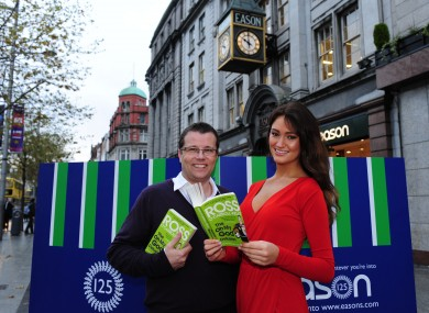Author Paul Howard and Miss Universe Ireland, Aoife Hannon