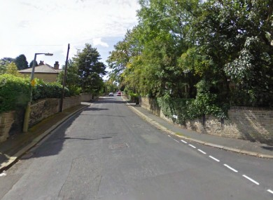 Woodside road, the area where the men allegedly drove the woman to before burying her alive