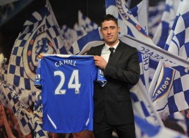 Cahill will wear number 24 for the rest of this season.