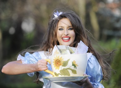 Alice in Wonderland - a.k.a. Rozanna Purcell - plugs tomorrow night's Euromillions draw, with a 'wonderful' (geddit?) jackpot of €70m.