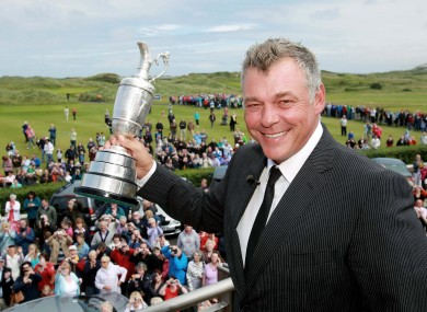 Darren Clarke with the Claret Jug at Royal Portrush last summer.
