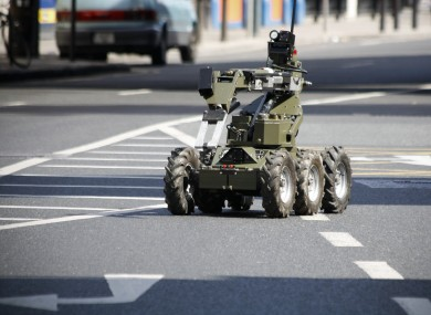 File photo of army bomb disposal equipment in use.
